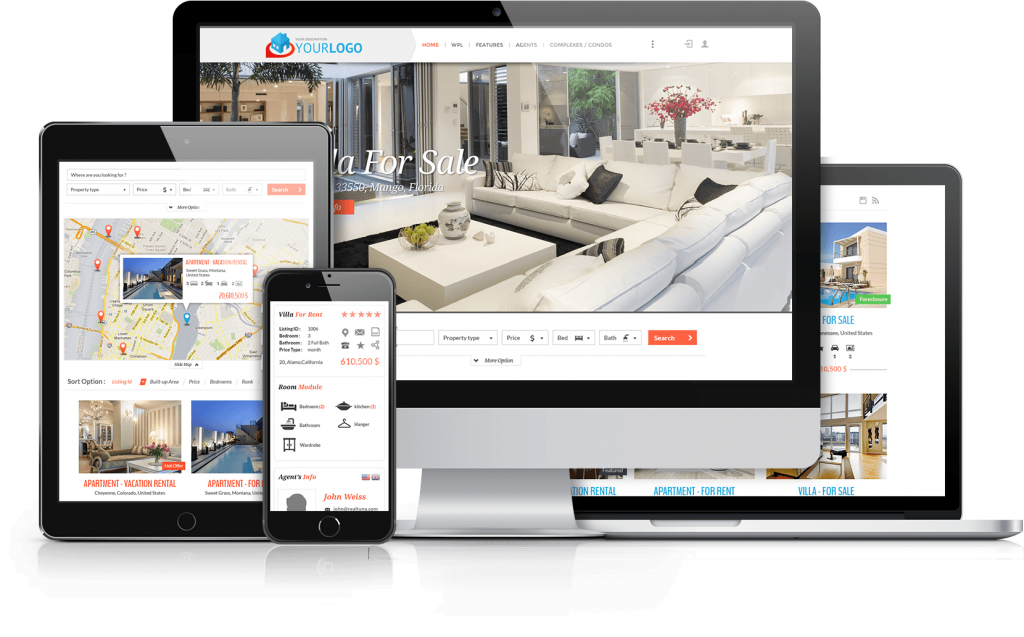 WordPress Real Estate - IDX, RETS, CRM, DDF and VOW solutions
