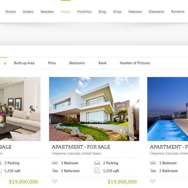 Avada + Realtyna Property Listing