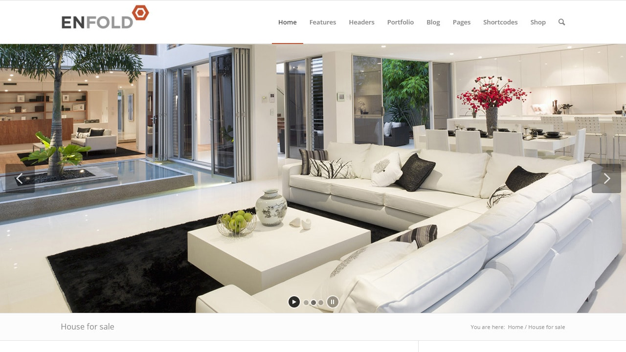 Enfold + Realtyna Property Show