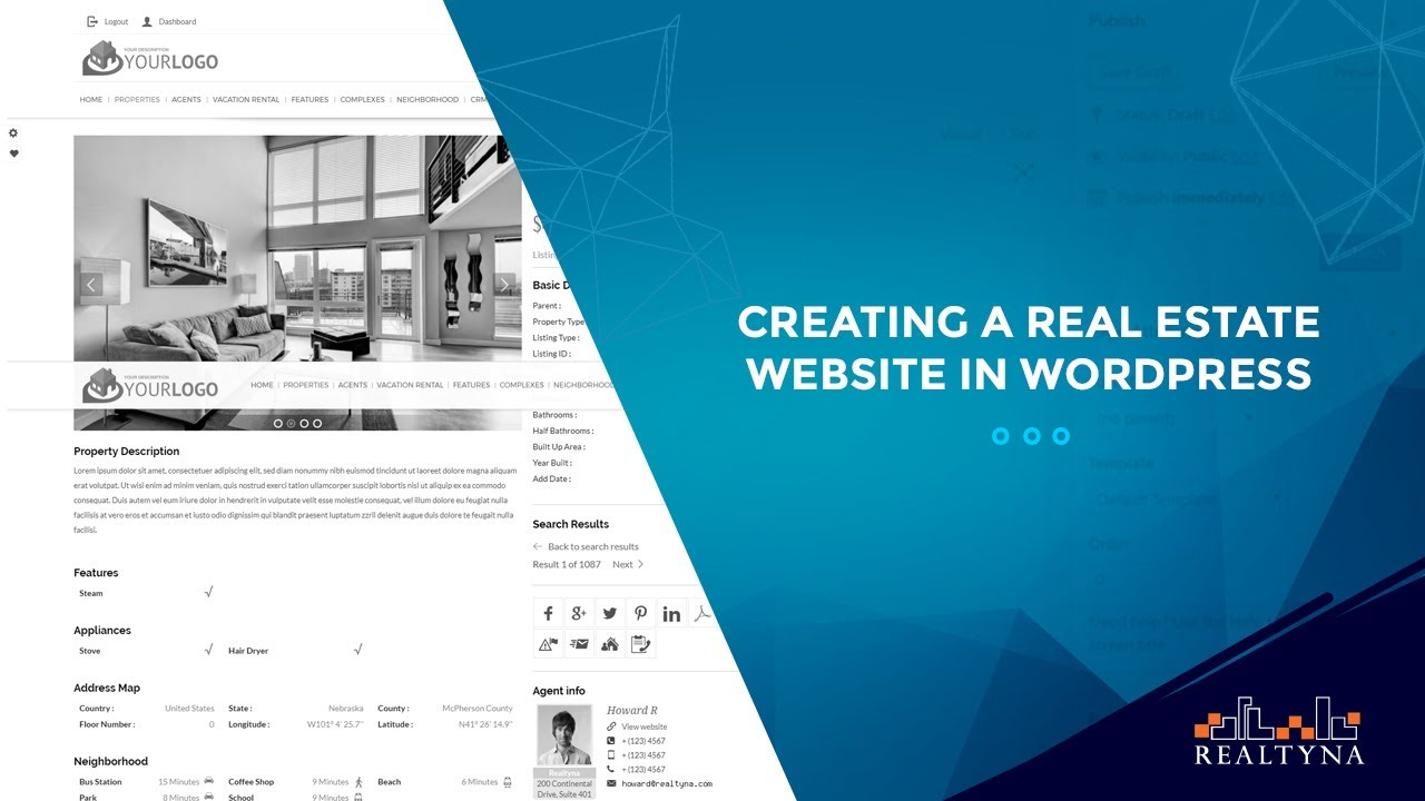 How to create a real estate website in WordPress