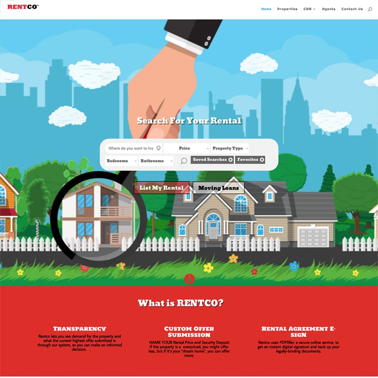 Rent Co: Real Estate Web