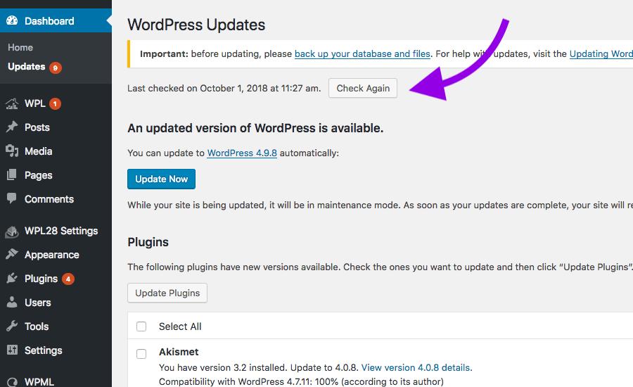 WPL Update