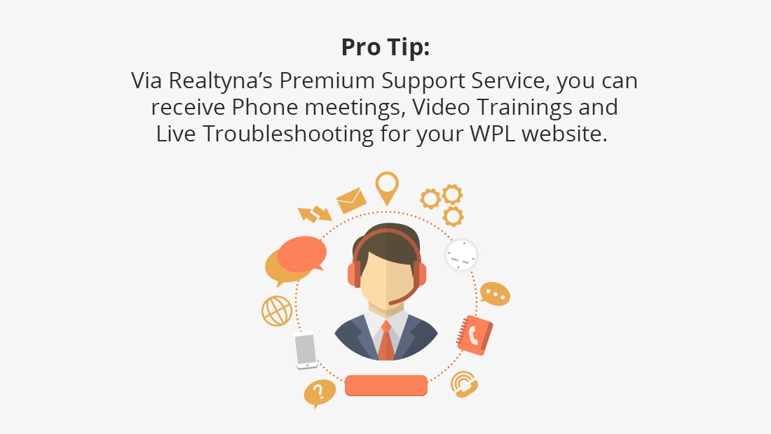 Realtyna's Premium Support Sevice