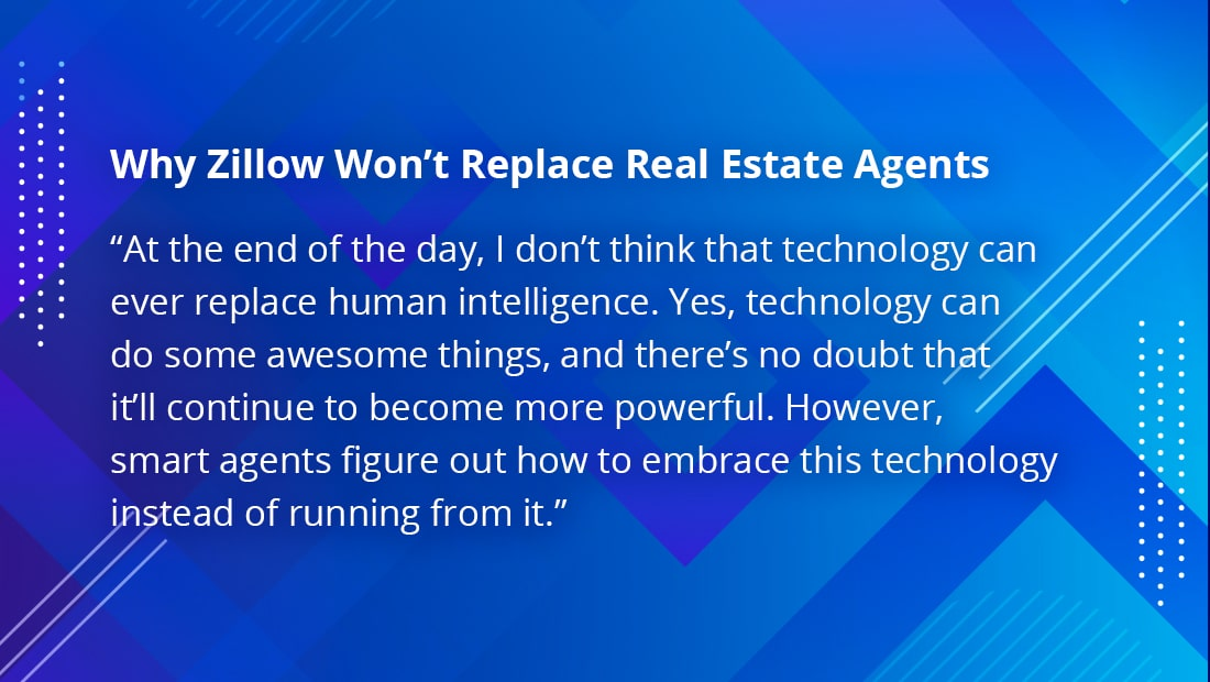 Zillow can't replace real estate agents