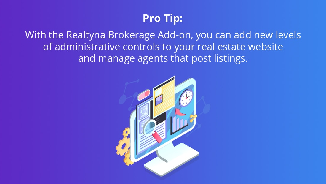 Realtyna's Brokerage Add-on