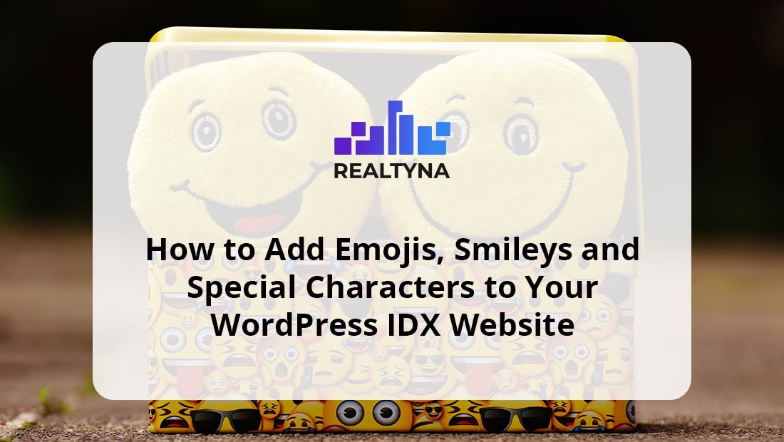 How to Add Emojis, Smileys and Characters to IDX Website