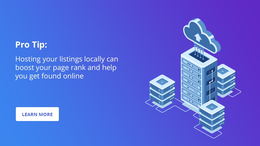 hosting listings locally