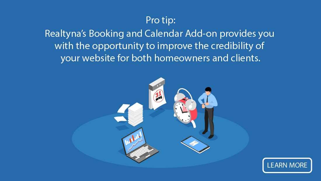 Realtyna's Booking and Calendar Add-on