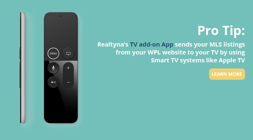Realtyna's TV Add-on App