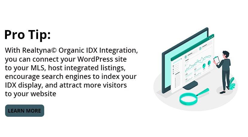 Realtyna's Organic IDX Integration