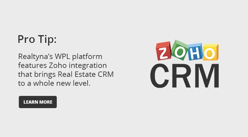 Realtyna's WPL Platform and ZOHO