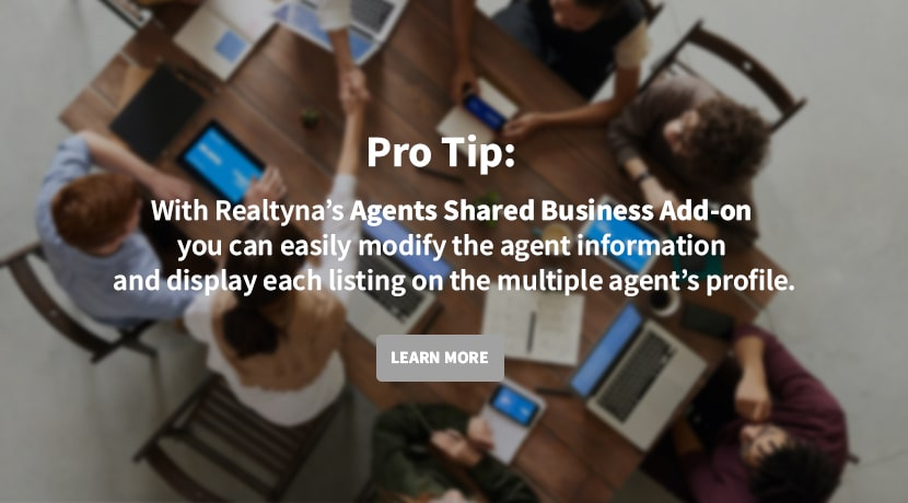 Agent's Shared Business Add-on