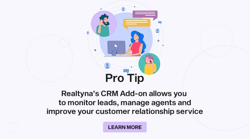 Realtyna's CRM Add-on