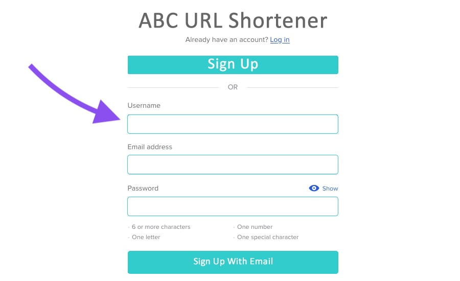 custom short url for the real estate website