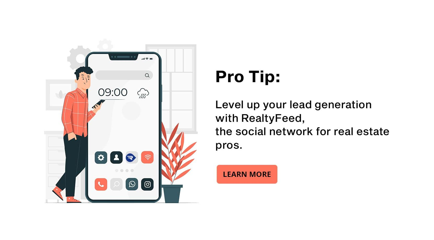 Level up your lead generation with RealtyFeed, the social network for real estate pros