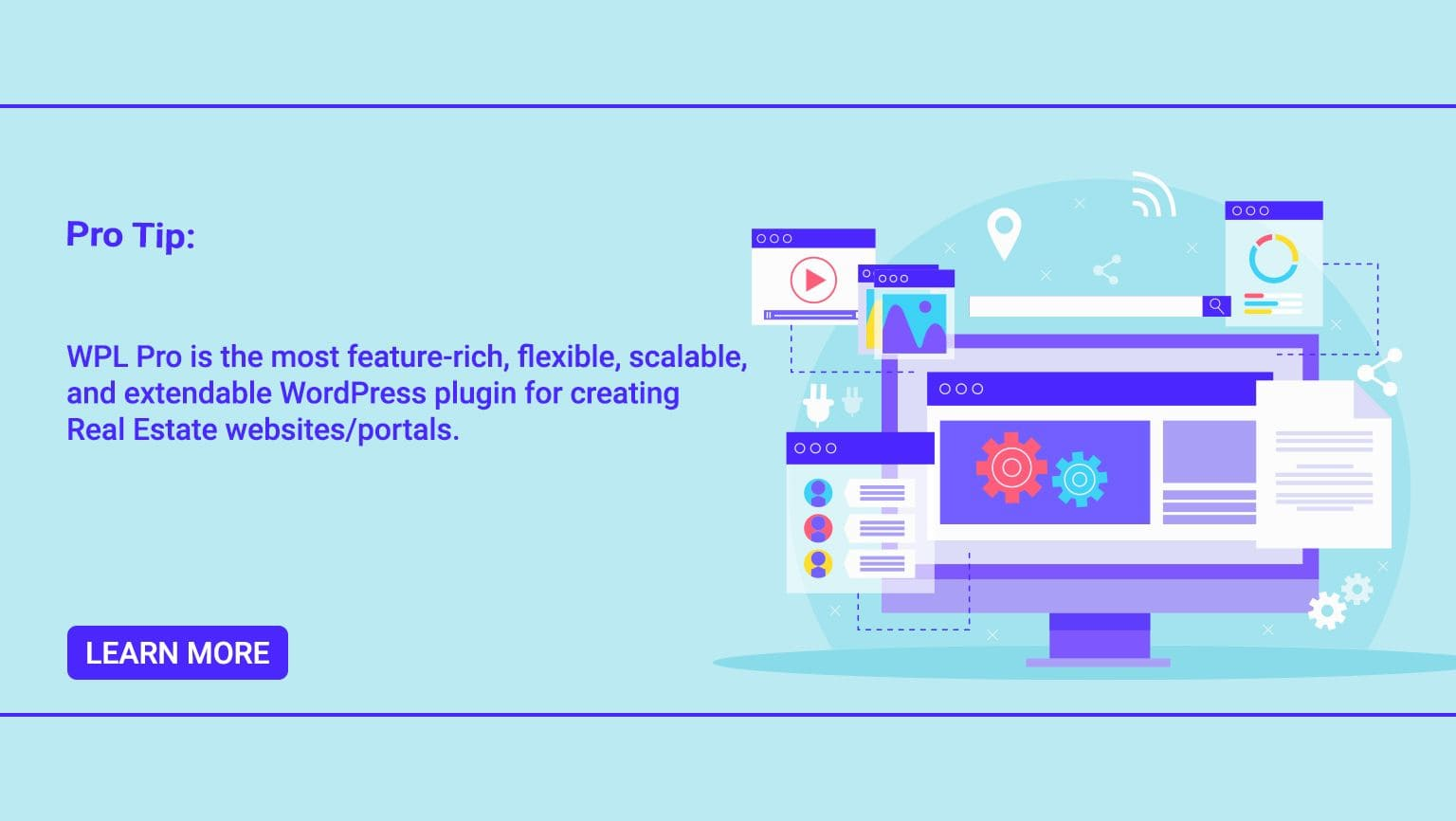 Pro-Tip: WPL Pro is the most feature-rich, flexible, scalable and extendable WordPress plugin for creating real estate websites / portals.